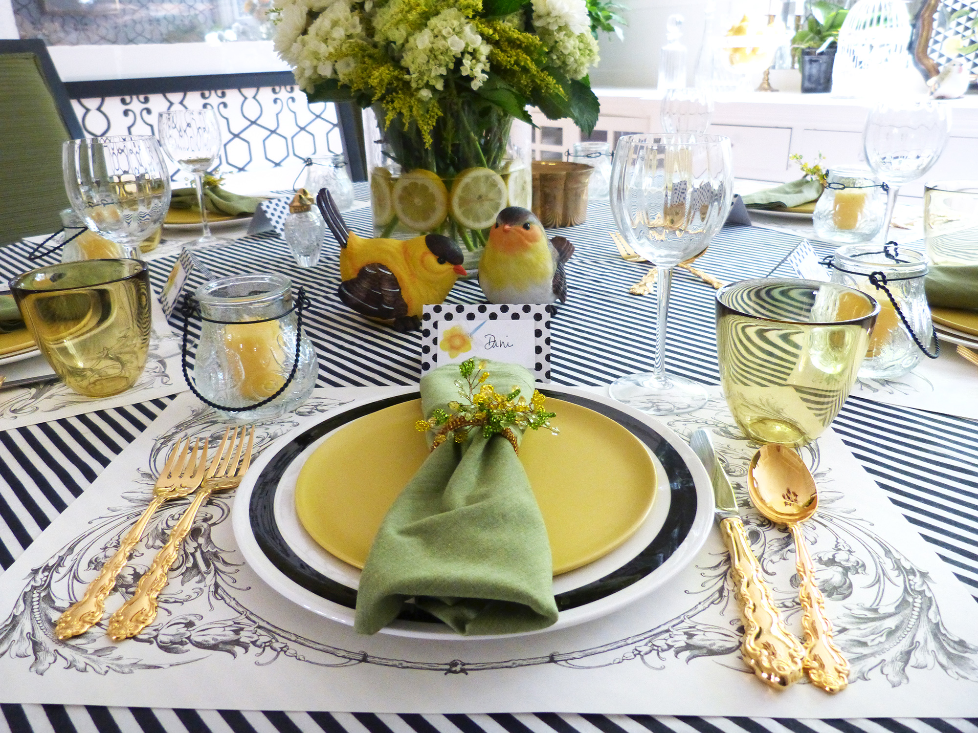 Spring Brunch Table Setting